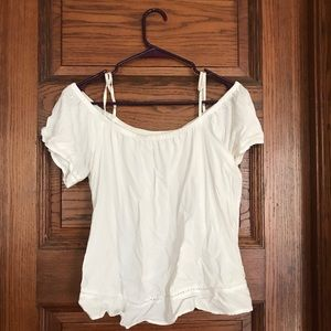 Old navy white off the shoulder shirt - size small